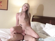First Time Beauty Taylor Valentine takes it up the Backside!