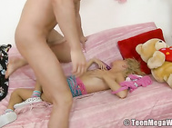 But Timo doesn't want to play with this sexy cutie - he is eager to fuck her in all her holes.
