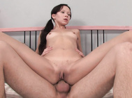 Then cute Codi took it in her tight twat deeply while she rode on top.