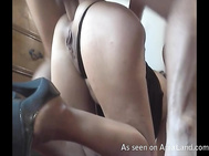 kinky amateur chick with her ass up and fucked deep