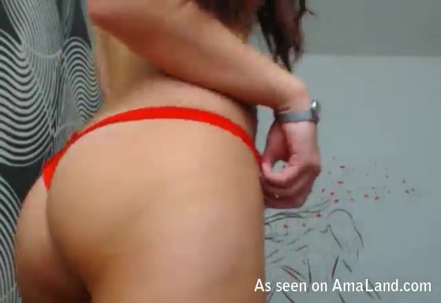 sexy amateur babe rides her boyfriends boner on webcam 0