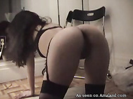sexy babe on all fours fucked in the ass
