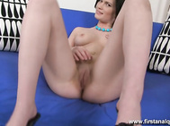 Julia is anything but innocent as she takes a big dildo and stuffs it up her butt, preparing for the best ass fuck a girl has ever been given in her anal virgin video.