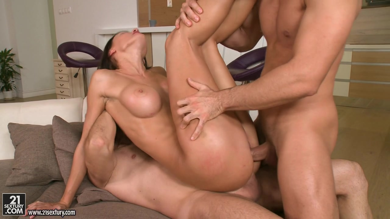 They decide to wait for him and while they are waiting, they have some fun with the horny girl.