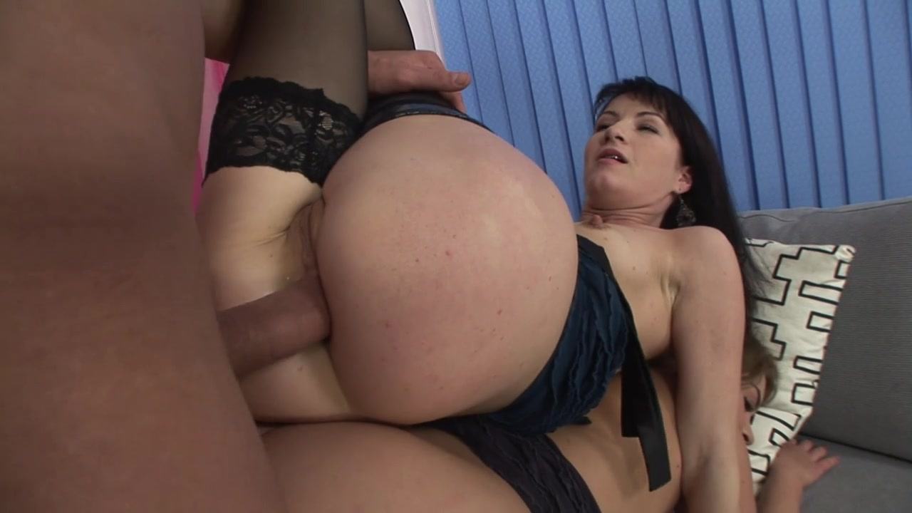 Sucking tits and riding cock up her ass makes her moan with extreme pleasure.