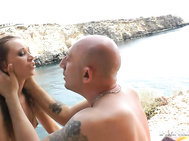 Incredible Lindsey Olsen and her boyfriend head out to a secluded beach for some rough and dirty fun.