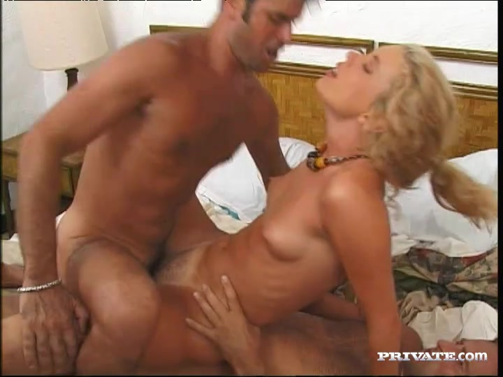 Her two friends join her to relax and it turns into a great three way fuck.
