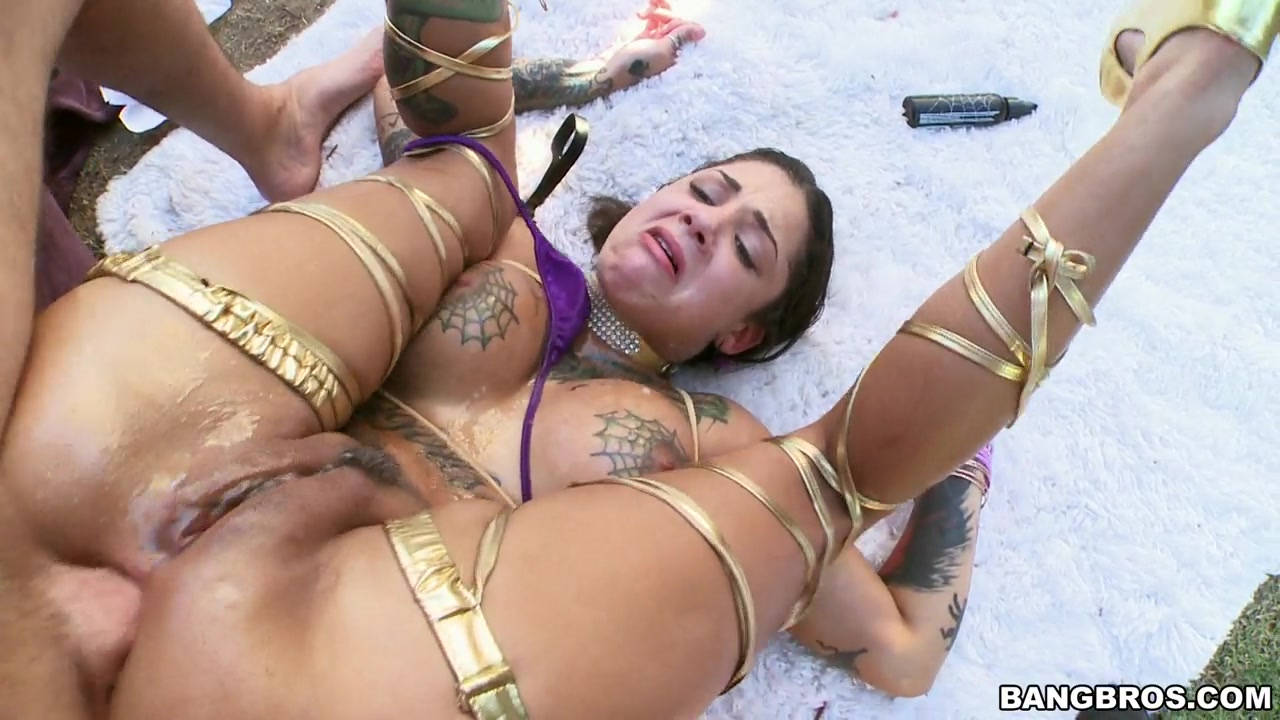 Love The Tan Lines And The Way She Whimpers As He Fills Her Tight Ass Up.