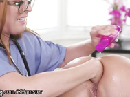 Girlsway Adriana Chechik Got a Toy Stuck in her BACKSIDE!