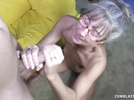 Horny Grannie Gets Splattered