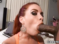 Bootylicious Butt Redhead Fucked By Large Ebony Cock