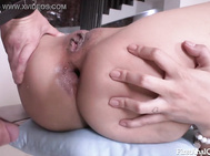 Asian has her first asshole with a large cock guy drilling her difficult