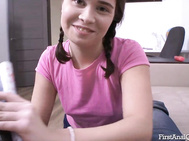 Innocent girl Jenny Fer shares passionate beginner anus.