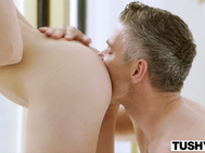 TUSHY Assistant Makes Her Boss Work For Anus