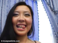 Liliane is a sexy half Asian chick who knows how to spread well just like any easy Asian slut.