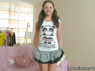 She's a super cute Russian teen and looks adorable with her long brown hair in pigtails as she and her man have an anal party that you're invited to.