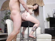 Doggystyle anal is how it starts but they explore many positions and in each her big ass getting fucked feels incredible and makes her his slutty moaning hottie that needs more.